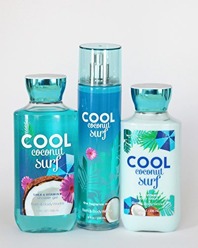 Bath and Body Works Cool Coconut Surf Gift Set of Shower Gel, Lotion and Mist