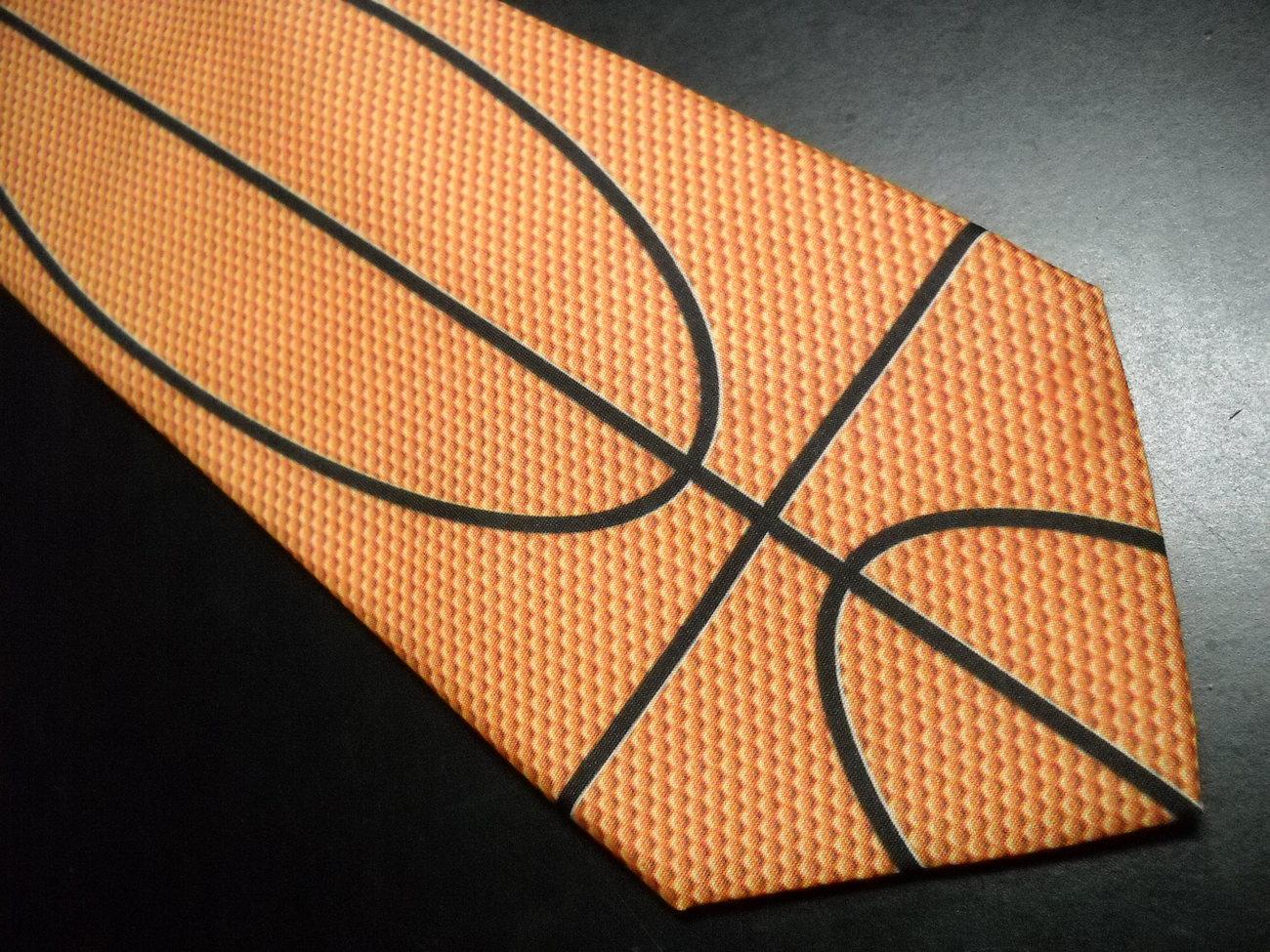 Ralph Marlin Neck Tie WallyWear BasketBall Skin 1997 Flattened Basketball Cover