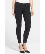 New Womens NWT Vince Dylan Skinny Ankle Jeans Black Floral 32 Gray Desig... - $110.00