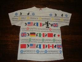 Vintage 90's Walt Disney Epcot All Over Print T Shirt XL  - $98.99