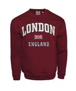 LE201MOW GWCC Unisex London England Sweatshirt Maroon Off White XS-2XL - $17.99