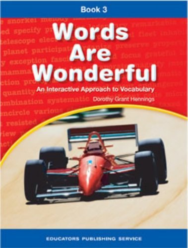 Words are Wonderful Book 3: An Interactive Approach to Vocabulary [Paperback] He