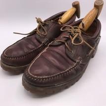 Vintage Timberland Braunes Leder Gore Tex Deckschuhe Herren Größe 10 - $70.78