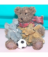 Bear With Elephant And Ball Collectable - $10.00