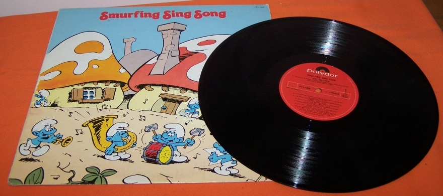 Smurf Sing Along Record Vinyl 33 RPM LP