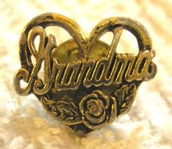 Pretty Grandma Pin back with roses   - $4.70