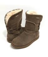 Emu Australia Charlotte Brown Suede Leather Boots Sheepskin Waterproof W... - $52.55