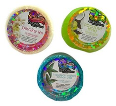 Bubble Shack Hawaii Loofah Soap Trio Organza Set 3 Bars, Ocean Set - $20.76