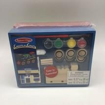 Melissa & Doug Decorate-Your-Own Wooden Race Car Train Kids Craft Paint Kit A2 - $19.79