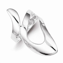 STERLING SILVER SOLID FANCY CONTEMPORARY RING  - SIZE 6 - £31.02 GBP