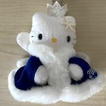 Hello Kitty Key Chain Mascot Plush Doll Snow Queen Fairy 2000 Sanrio JP Rare F/S - $49.97