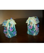 set of 2 birdhouse springtime candlestick holders - $4.50