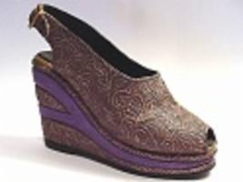 Golden Leaf-Flora De Oro-Rosie Riveter Practical Wedge Heel Just the Rig... - $19.99