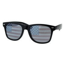 USA American Flag Lens Sunglasses Classic Square Frame UV 400 - $9.95