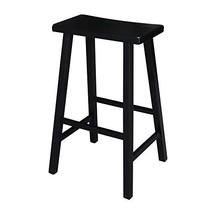 International Concepts 29-Inch Saddle Seat Barstool, Black