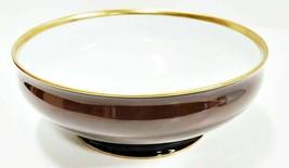 """Haviland Limoges Laque De Chine Gold Rim - Chocolat Salad Serving Bowl, 9 3/4"""" D - $133.65"""