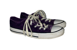 Converse All Star Purple Velvet 658211F Size 1 Lace Up Sneakers - $9.90