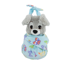 Disney Parks Baby Scamp Puppy from Lady and Tramp in a Pouch Blanket Plu... - $36.90