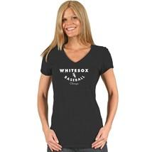 New Women's Soft as a Grape Chicago White Sox Tri Blend V Neck T-Shirt L - $14.46