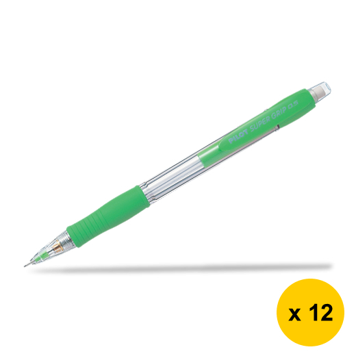 Primary image for Pilot Super Grip H-185 0.5mm Mechanical Pencil (12pcs), Light Green, H-185-SL-SG