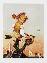 "Norman Rockwell ""Under Sail"" 1981 - S/N Lithograph - Retail $3.5K - COA ... - $2,450.00"