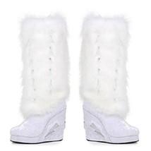 Ellie Shoes Happy con Luz Disfraz Plataformas Peludo Raver Zapatos Botas - $214.54