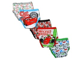 Disney Little Boys' Cars 5-Pack Brief, Colors and Prints may Vary - $12.99