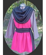 Renaissance Mens Tunic LARP SCA Costume Red with Grey - $32.00