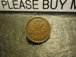1943 CANADIAN CENT COIN    ****     >> COMBINED SHIPPING  - $1.73