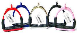 FLEXI SAFETY OFFSET EYE STIRRUPS FOR OPTIMUM LEG POSITION HORSE RIDING A... - $21.90+