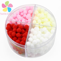 Lucia crafts 8mm Assorted Pom Poms 480pcs/box 120pcs/color - $13.95