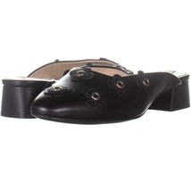 Cole Haan Laree Slide Pointed Toe Slip On Sandals 380, Floral Black Leat... - $50.87