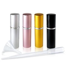 Refillable Glass Perfume & Cologne Fine Mist Atomizers with Metallic Ext... - $9.35