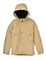 Elvine Mens Lined Hood Design Jacket Relaxed Beige Size L - $126.89