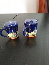 Chicago Dark Blue Porcelain Salt & Pepper Shakers image 2