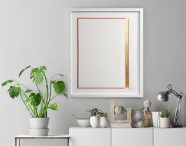 Gold Stripe, Wall Sculpture,wall decor,pepercut,sculpture,Eco friendly - $150.00