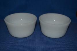 2 Vintage Glasbake Bowls Ramekins Custard Dish white - $4.80