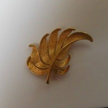 """JJ"" Signed Gold-tone Leaf Brooch/Pin  - $15.99"