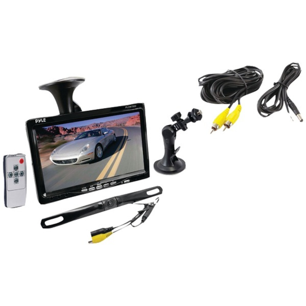 "Primary image for Pyle PLCM7500 7"" Window Suction-Mount LCD Widescreen Monitor and License-Plate-M"