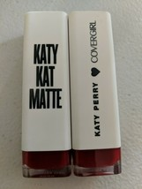 Two New CoverGirl Katy Perry Kat Matte Lipstick Crimson Cat Cover Girl - $5.00