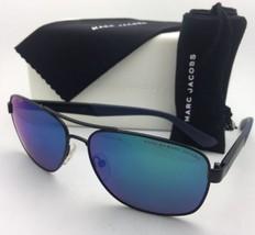 New MARC By MARC JACOBS Sunglasses MMJ 431/S KU4T5 Matte Black Aviator w/ Mirror