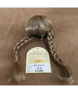 8 - 9  Wee 3 blonde braids wig hair Doll making parts 286 wt plaits xpl08bl - $16.50