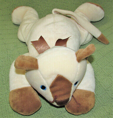 VINTAGE TY MEOW CAT PILLOW PETS SIAMESE KITTEN 1996 STUFFED ANIMAL TAN IVORY TOY