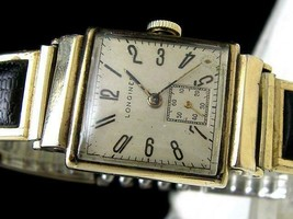 371/1940's Longines Deco Small Seconds mens watch cal.9L - $333.62