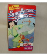 Disneys Sing Along Songs - Mulan: Honor To Us All VHS - $9.89