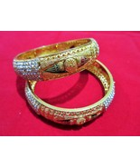 Indian Traditional Bollywood Gold Plated Ethnic 2Pc Fashion Jewelry Bang... - $14.45