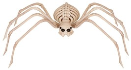 LG 3Ft SKELETON SPIDER Movable Legs Head Halloween Haunted House Prop De... - $26.38