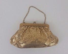 Vintage Whiting & Davis Gold Mesh Evening Handbag Purse Clutch Bag - $20.00