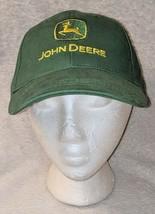 John Deere LP14418 Green Adjustable Baseball Cap With Leaping Deer Logo image 1