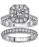 VIP Jewelry Art 4.25 CT TW Princess Cut Designer Engagement Bridal Set i... - $6,999.00
